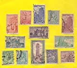 IHC Rare Collection of 1st Series 1949 Indian Archaelogical Stamps (13 Pieces)