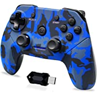 Clevo Controller for PC, Wireless 2.4G Game Controller for PS3, Android Phones, Tablets, TV Box, Steam with Dual…
