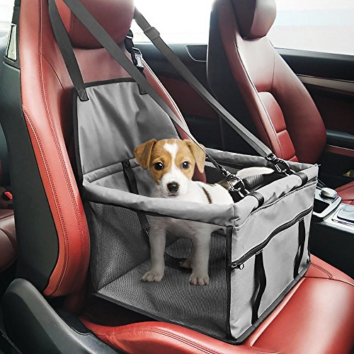 Karl Aiken Wasserdicht Atmungsaktiv Pet Auto Matte Safety Car Sicherheitsgurt Bezug Booster Bag Pet Carrier Sitz Displayschutzfolie Reisen Auto-Kissen für Hund Katze Haustier (Autositz Sicherheitsgurt Kissen)