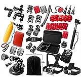 Gearmax® Esencial Accesorios para GoPro Hero 4 3+ 3 2 1 Negro Plata Kit de Accesorio para GoPro 4 3+ 3 2 1 Black Silver SJ4000 SJ5000 SJ6000, juego de Accesorios de la Cámara para GoPro Hero4 Hero3+ Hero3 Hero2