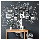 Grandora W5483 Wandtattoo XXL Baum I weiß (BxH) 130 x 125 cm I Flur Wohnzimmer Aufkleber Wandaufkleber selbstklebend Wandsticker