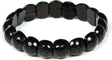 Black Obsidian Bracelet for Reiki Healing and Protection, Grounding, Cleansing - Bracelet by Reiki Crystal Products