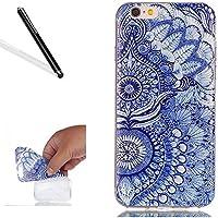 Hülle für iPhone 6S (4.7 Zoll),Case für iPhone 6 (4.7 Zoll),Leeook Kreativ Retro Blau Mandala Blume Muster Entwurf... preisvergleich bei billige-tabletten.eu