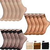 SATINIOR 15 Paia Calze alla Caviglia Trasparenti Calze in Seta Trasparenti alla Caviglia Trasparenti per Donna Dimensioni lib