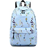TYPIFY® Polyester Printed Waterproof Preppy Style Girls Women Backpack