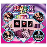 Ksg Arts and Crafts Sequin Art 3 Style Sequin Art (Pop Art 1) by KSG