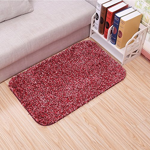 Super Soft absorption d'eau anti-dérapant de bain Tapis Porte Mats Perle Pad (Couleur : Rouge)