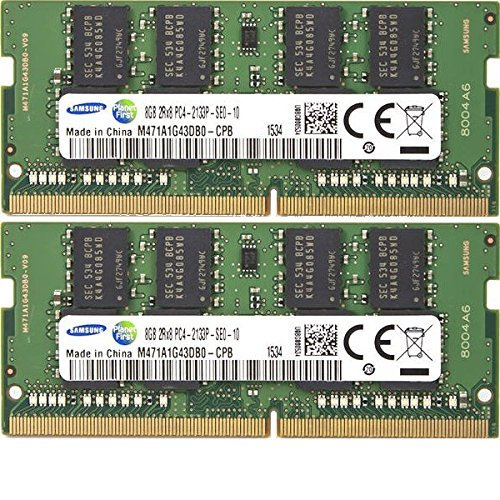 2x 8GB Kit 16GB DDR4 Notebook Memory 2133Mhz Samsung M471A1G43DB0-CPB 260-pin SO-DIMM PC4-17000 RAM for Skylake Brand Laptop System