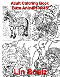 Adult Coloring book Farm Animals Vol 5 (Adult Coloring books)