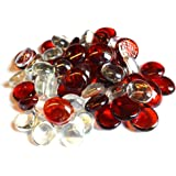 Glass Pebbles Red 20mm SOOTHING IDEAS 500g app 115