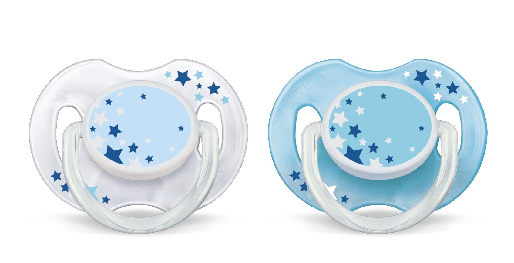 Philips AVENT SCF176/18 Glow in the Dark Night-Time Soother 0-6 Months (Colours May Vary), 2 Soothers 3
