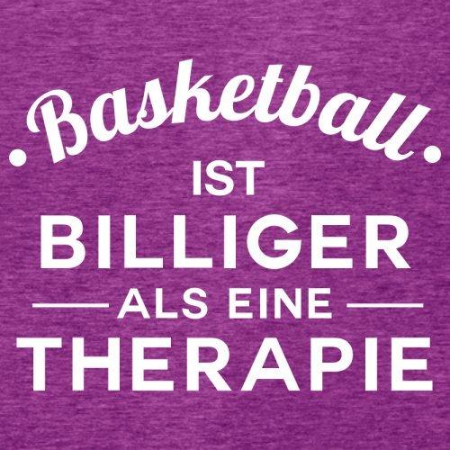 Basketball ist billiger als eine Therapie - Damen T-Shirt - 14 Farben Beere