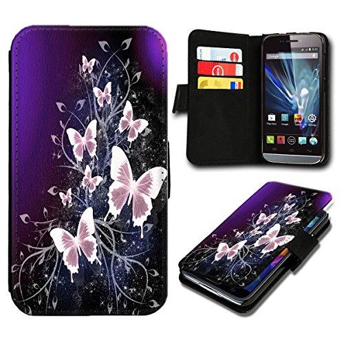 Book Style Huawei Ascend Y530 Premium PU-Leder Tasche Flip Brieftasche Handy Hülle mit Kartenfächer für Huawei Ascend Y530 - Design Flip SB625