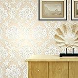 Wallpaper 3D-Tapete im europäischen Stil mit Blumenvlies 3D-Tapete Wohnzimmer Schlafzimmer Tapete Schalldämpfend Wunderschöne Tapeten Roll (Klebstoff nicht enthalten) , 2