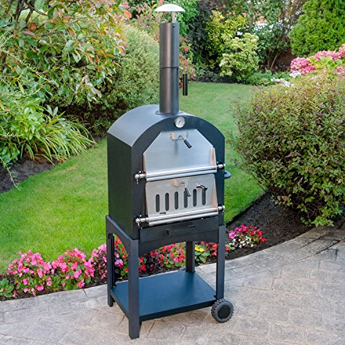 Parkland� Outdoor Portable Pizza Oven, Wood Fired Charcoal Garden & Patio Chimney Oven, BBQ Smoker & Bread Oven