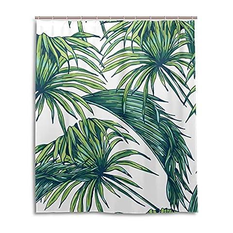 Rideau de douche de bain 152,4x 182,9cm, tropical Floral Rétro feuille, à la moisissure Polyester Rideau de salle de bain en tissu
