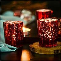 Supreme Lights Lot de 12 Porte-Bougie à Bougie Votive en Verre Mercury pour Mariages, Fête et Décoration, 2,45 po H…