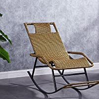 ZXQZ Chaise à Bascule Maison Adulte Rotin Paresseux Chaise Personnes âgées  Loisirs Chaise à Bascule Intérieur 59243b0cef48