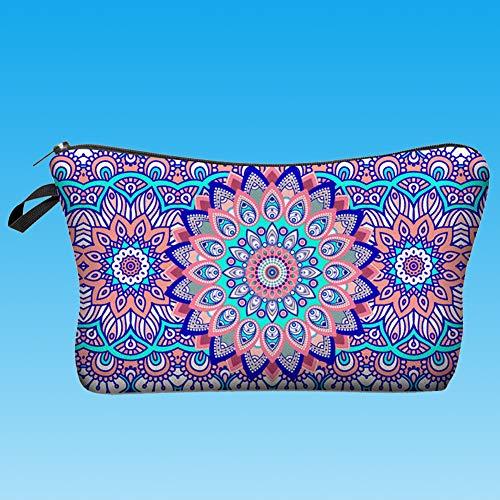 CAheadY Exotische Blume gedruckt Frauen Clutch Bag Reise Kosmetische Aufbewahrungsbox Beutel Purple