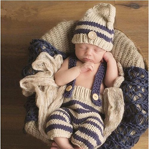 New Born Baby Kostüm - Neugeborene junge mädchen Handarbeit gehäkelte Baby