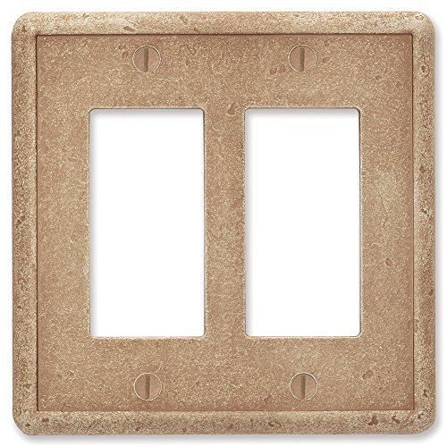 Double Switch Wall Plate (questech Noche Trommelstein Strukturierte-/Switch Plate/Auslass, Double Decorator GFCI)