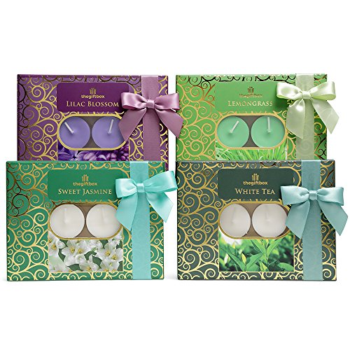 Candles Gift Set. Containing 48 Scented Tealight Candles. An Ideal for Women, for Her, Gifts for Her. (Luxury Relax)