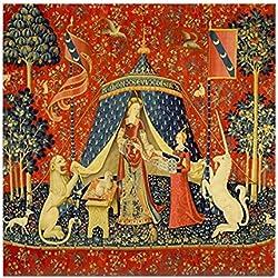CafePress–Lady y el unicornio Medieval tapiz decorativo CO–para azulejos posavasos, posavasos de bebida, pequeño salvamanteles