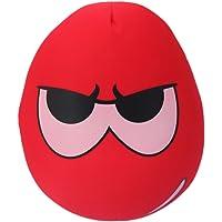 Tootpado Extremely Soft Micro Beads Hug While You Sleep Pillows Decorative Cushion for Kids Emoji 36cm (Red)