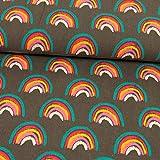 Stoffe Werning Feincord Regenbogen grau Babycord