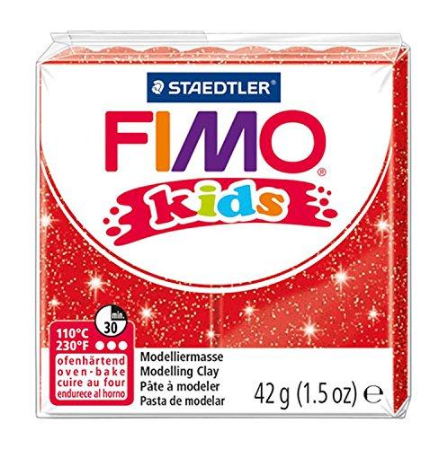 Bambini FIMO®, plastilina per lo stampaggio e impastare per i bambini 16 colori bagliore rosso