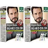 Bigen Men's Beard Color, Brownish Black B102 (20g+20g) (Pack Of 2)
