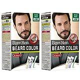 #8: Bigen Men's Beard Color, Brownish Black B102 (20g+20g) (Pack Of 2)