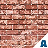 Artesive ST-01 Mattoni larg. 50 cm AL METRO LINEARE - Pellicola Adesiva in vinile effetto pietra per interni per rinnovare mobili, porte e oggetti di casa