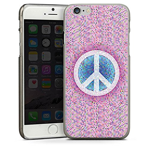 Apple iPhone 5s Housse Étui Protection Coque Peace Hippie paix couleurs CasDur anthracite clair