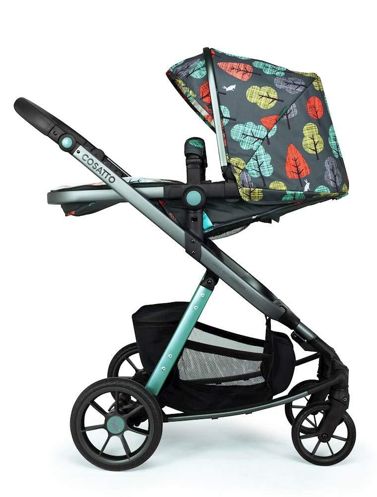 Cosatto Giggle Quad Pram & Pushchair Hare Wood Cosatto Enhanced performance. unique tyre material and all-round premium suspension give air-soft feel. Comfy all-round. spacious carrycot for growing babies.  washable liner. reversible reclining seat. Ultimate buy. tested up to a mighty 20kg for even longer use. big 3.5kg capacity basket for big shop 5