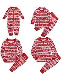 ESHOO Conjunto de pijamas a juego de la familia de Navidad Conjunto de trajes de pijama