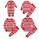 Wingbind corrispondenza di Natale pigiama per famiglia con bambini, plaid Elk modello girocollo maniche lunghe lungo pantaloni pigiama un pezzo per Little Baby Family set pigiama, Tessuto, Mom, (Mom)M