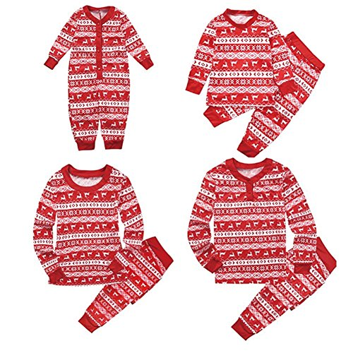 - 61qMpIMqh8L - Family Matching Christmas Pyjamas Set Dad Mom Kids Baby Sleepwear Outfits Two Piece Clothing By Shiningup