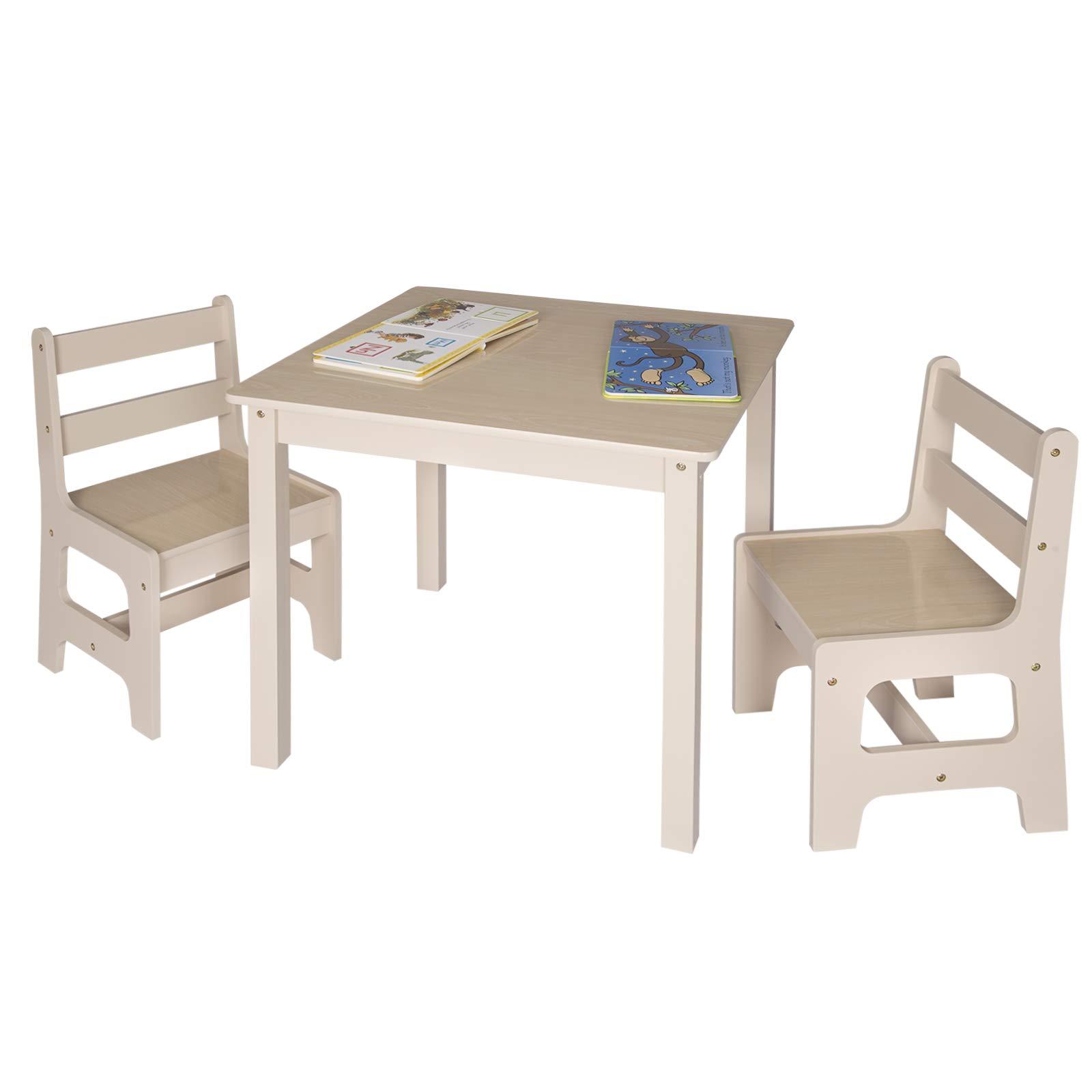 Woltu Sg001 Tavolo E Sedie Per Bambini Soggiorno Tavolino Con 2 Sgabelli Set Mobili In Legno Faceshopping