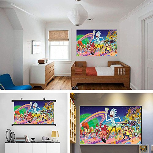 Auntwhale Rick and Morty Cartoon Poster Decorative Painting, Suitable for Book Store Coffee Shop Office Home Decor