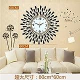 AIZIJI Orologio da parete orologio da salotto moderna creativo moda minimalista europeo personalità luminoso silenzioso orologio muro 60cm