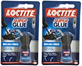 2x Loctite sofort Super Kleber Klebstoff einfach Pinsel Auf verteilt Applikator 5g