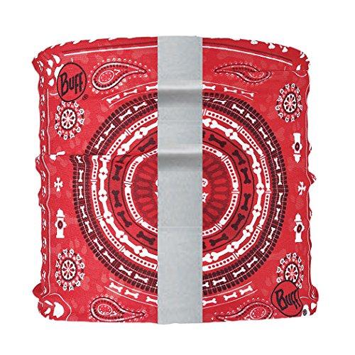 BUFF Dog Neckwear Reflective, Dogdana Red, Medium/Large