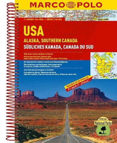 MARCO POLO Reiseatlas USA, Alaska, Südliches Kanada 1:2 Mio./1:4 Mio.: Wegenatlas 1:2 000 000 / 1:4 000 000 (MARCO POLO Reiseatlanten)