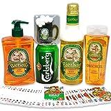 Handverpacktes Geschenk für Männer Stammtisch mit Badeschaum sowie Duschgel plus Carlsberg Bier...