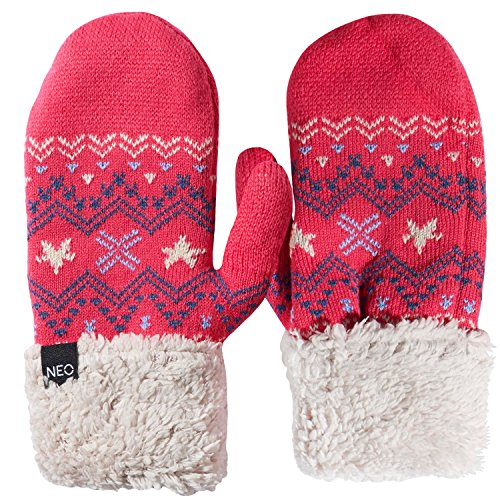 adidas NEO Womens Graphic Nordic Knitted Mittens - Pink