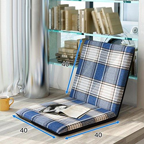 Paresseux Canapé Pliable Simple Petit Canapé Lit Dossier Chaise Balcon Pliant Coussin Canapé Chaise 40 * 40 cm (Couleur : A)