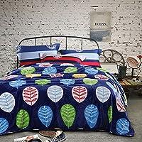 HHYWS Morbido e caldo buttare letto divano di gettare una coperta a doppia faccia foglie spesse giorno di primavera, arabo,1.8*2,0m