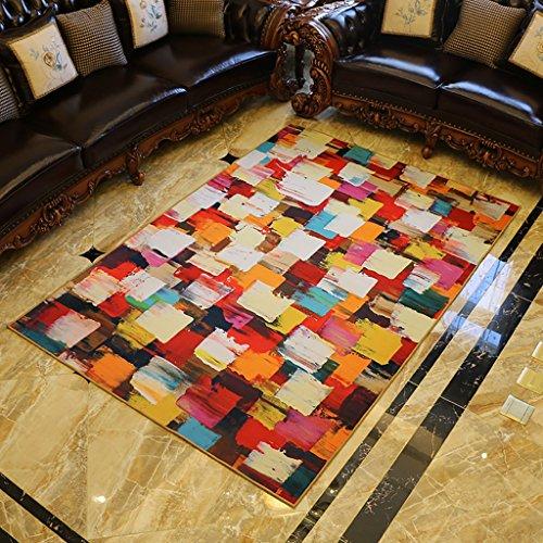 Cqq alfombra Sala de estar Grandes alfombras Sofá Mesa de centro Mats Dormitorio Estudio Rectangle Manta de cama ( Tamaño : 140cm*200cm )