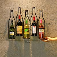 Estantería de vino ZCJB 5 Botella Vino Rack Vino Retro Estante Colgante De Pared Restaurante Restaurante